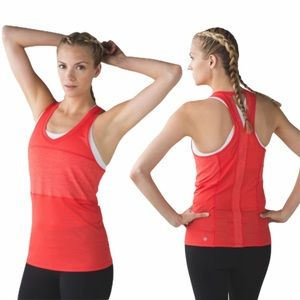 Lululemon Pedal to the Medal Tank Top Size 6 Coral